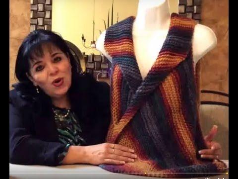 CHALECO SELECTO - tejido en agujas (fácil y rápido) - Tejiendo con LAURA CEPEDA - YouTube
