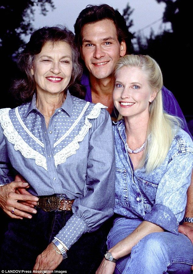 Patrick Swayze  Lisa and his mother