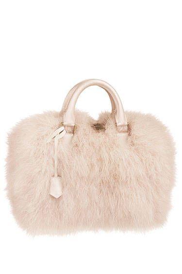 6. Fluffy handbags.