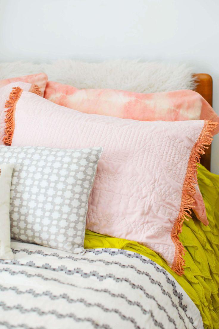 Naturally dyed pillowcase DIY