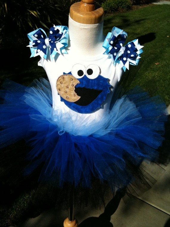 Yummy Cookie Monster TuTu Set by ButterflyBowtique on Etsy, $40.00