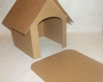 Cardboard Diy 7 1 2 Tall Dog House Dog House Dog House Diy