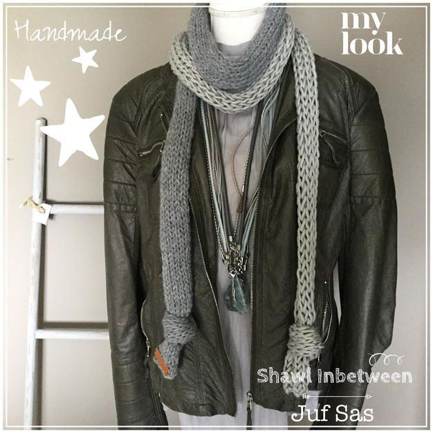 Deze shawl is echt een project tussendoor, vandaar de naam Inbetween. Als een groot project af is en ik nog geen nieuweinspiratie heb, wil ik wel graag i