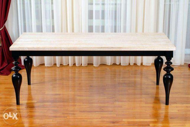 600 lei: Masa este realizata din lemn masiv.Trimet in toata tara prin posta sau curier.Culorile sint la preferinta dumneavoastra.Dimensiuni 1m lungime si 50 inaltime.