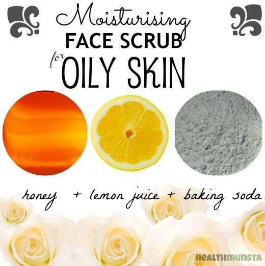 Super moisturizing face scrub for oily skin! Leaves your skin cleansed and moisturized to control oiliness.