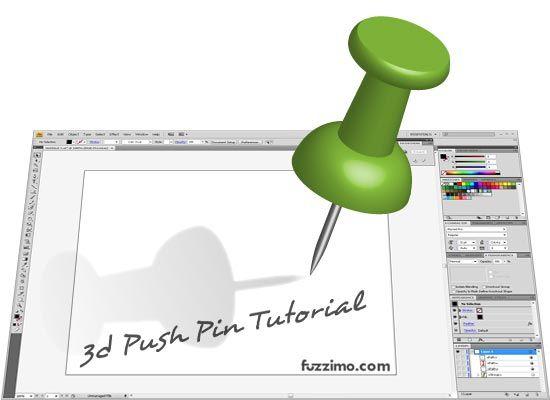 Illustrator Tutorial Make a Glossy 3d PushPin