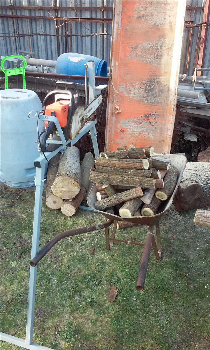 Homemade Log Saw Horse Holder For Sawing Log Homemade Log Holder Metal Chainsaw