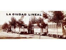 CRUCE DE LOS TRANVÍAS EN LA CALLE PRINCIPAL DE CIUDAD LINEAL.