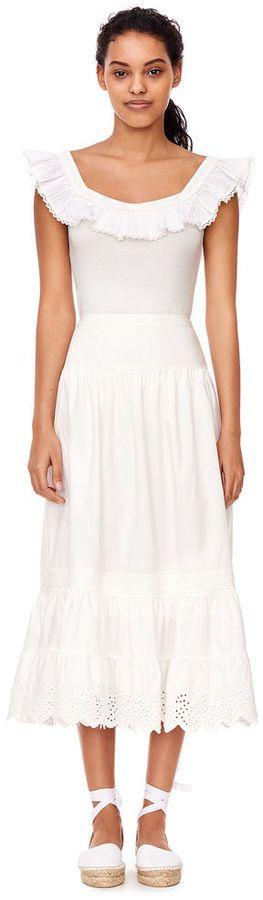 Rebecca Taylor La Vie Poplin Eyelet Skirt