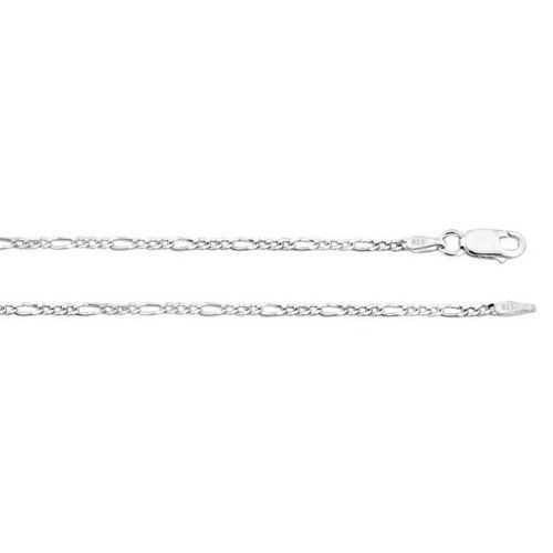 "Sterling Silver .925 Figaro Bracelet Chain 1.8mm 9"" inches. MADE IN ITALY. FREE GIFT BOX ZilverZoom. $5.43. 1.8mm Gauge. Available in Lengths: 7"", 8"" & 9"". Approximately 1.6 grams. Free Gift Box.. 9"" Bracelet. .925 Silver"