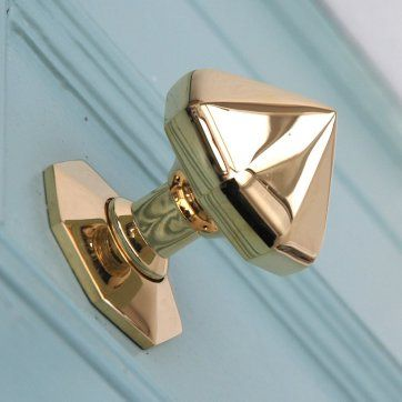 Solid Brass Pointed Octagonal Door Pull- Willow & Stone