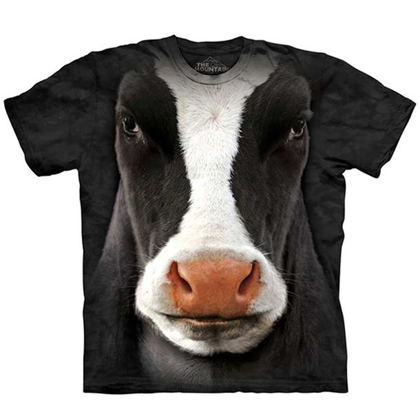 Black Cow Face Tee Adult