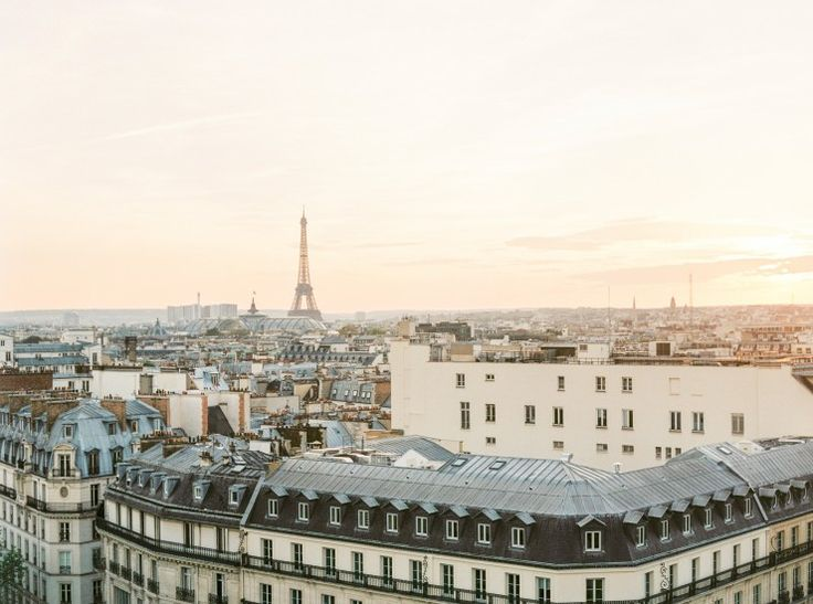 Paris on Film at Sunset from the Rooftops #film #contax #paris