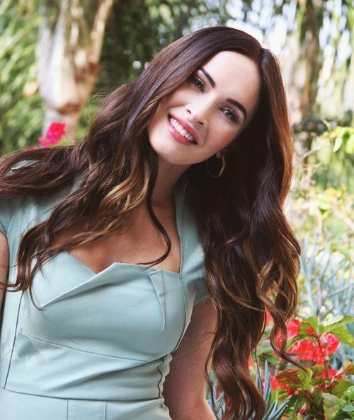 Dark hair. Megan Fox.