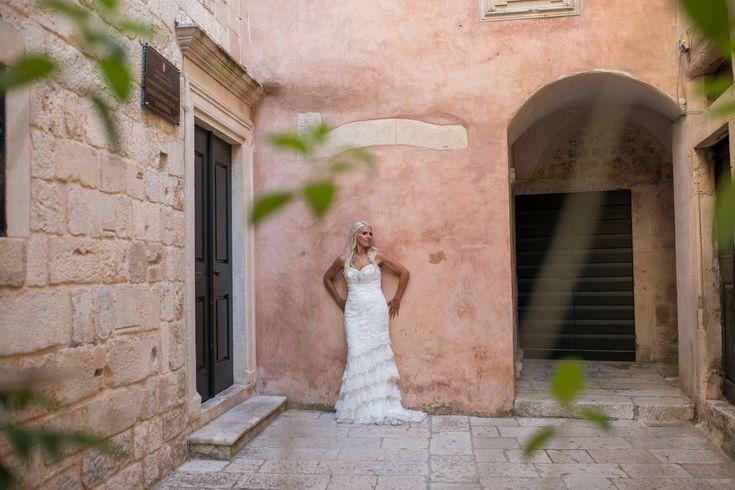 This gorgeous wedding took place in 2017 at the Elegant private terrace in Croatia. #destinationwedding #croatia #seaviewwedding #bride