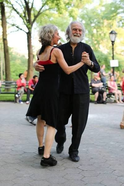 Humans of New York.  He doesn't always waltz.  But when he does, it's in public.