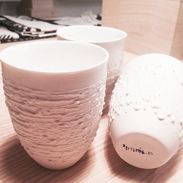 Finest handmade porcelain cups by icelandic artist iris ros