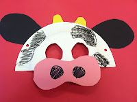 cute cow mask for Farm Theme.