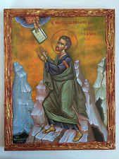 Moses-The Commandments- handmade Greek orthodox Russian byzantine icon