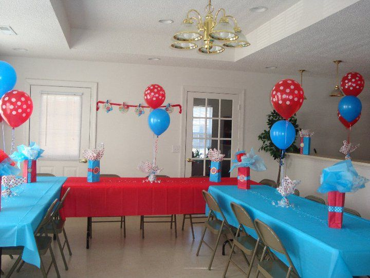 25 best ideas about dr suess centerpieces on pinterest for Baby shower hall decoration ideas