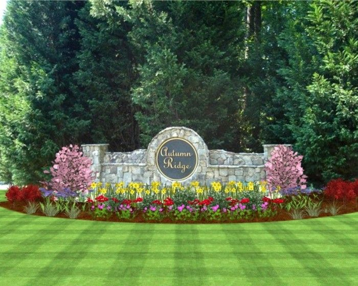Neighborhood sign landscape ideas landscaping photo for Garden entrance designs