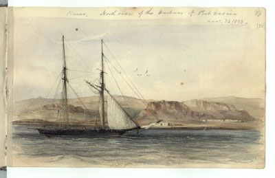 The sketchbook of Conrad Martens who sailed with Darwin on the Beagle.