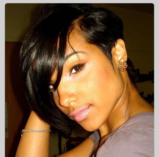 Short black hair styles   Hair   Pinterest   Short Black Hair, Hair ...