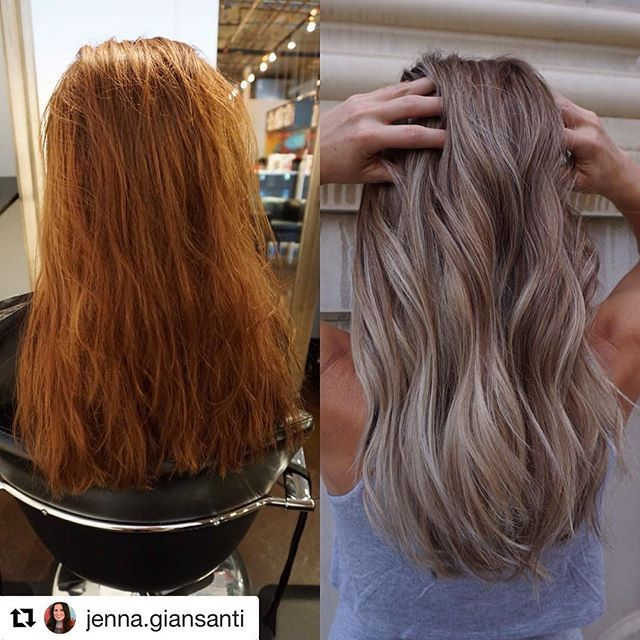 Color change inspiration #beautycodeme @beautycodeme @beautycodemena  @jenna.giansanti BEFORE AND AFTER • Full head babylights with Silk Lift Strong and 20vol. Balayaged the ends of all the pieces left out of the foils with Silk Lift Strong and 30vol. At the bowl, root tapped her with Colorance 6n & 7n and glossed her ends with Colorance 10v and 10p. ✨✨ @goldwellny @goldwellkmsacademy