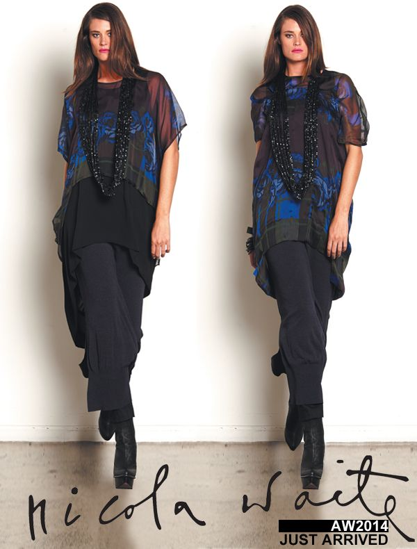 Don't miss out on these two limited run items - overtop (can be worn reversed) and tuck front tunic. Adding one of these to your favourite black outfit will bring it alive and you will feel and look exquisite!  For more information and to order, please call a member of our friendly and knowledgeable teams at any of the Nicola Waite stores.