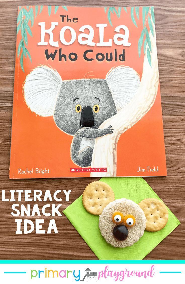 Literacy Snack Concept Koala + Free Printable