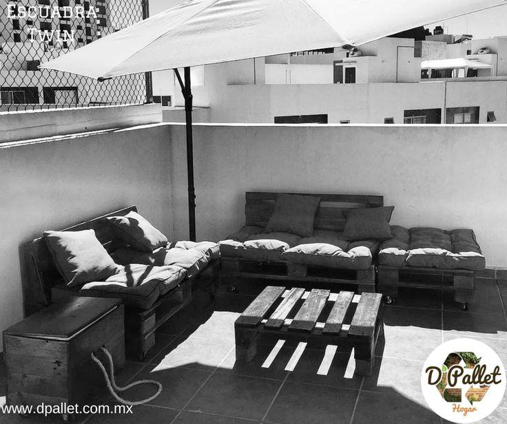 Sala Escuadra Twin  #dpallet #mobiliarioecologico #diseñointeriorMobiliario para #hogar ventas@dpallet.com.mx WhatsApp 3310554119 Tel. 10320165  #Pallet #Palletfurniture #Ecofriendly #Pet  #Muebles #Mueblesconpalet