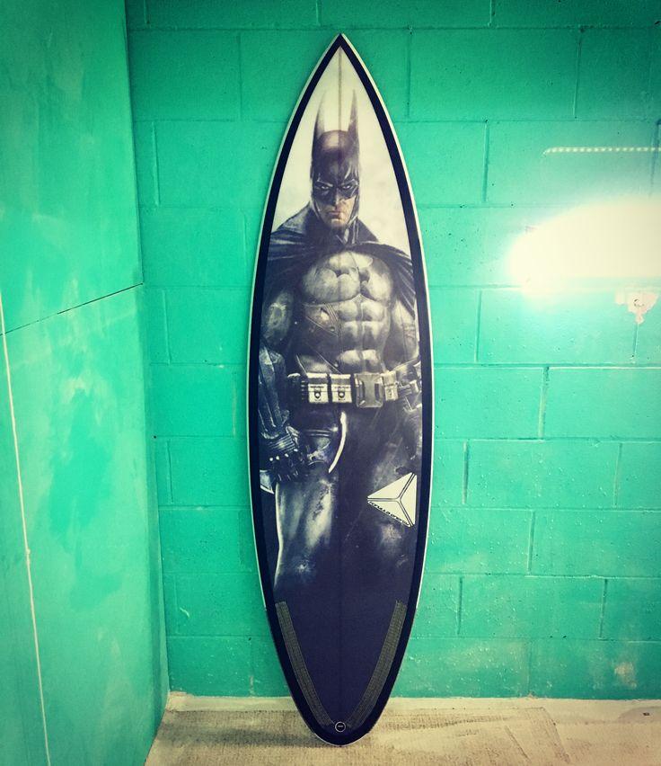 Tribute to the late great Adam West . The original batman . #surfboard #batman #formulaenergysurf