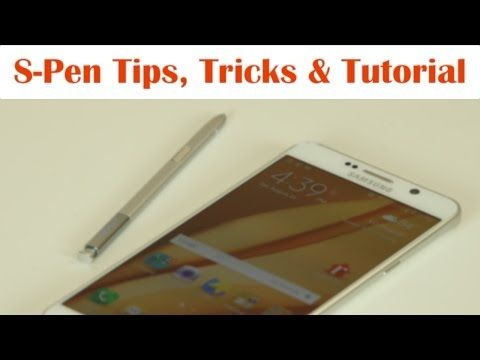 Samsung Galaxy Note 5: S-Pen Tips, Tricks and Full Tutorial - YouTube