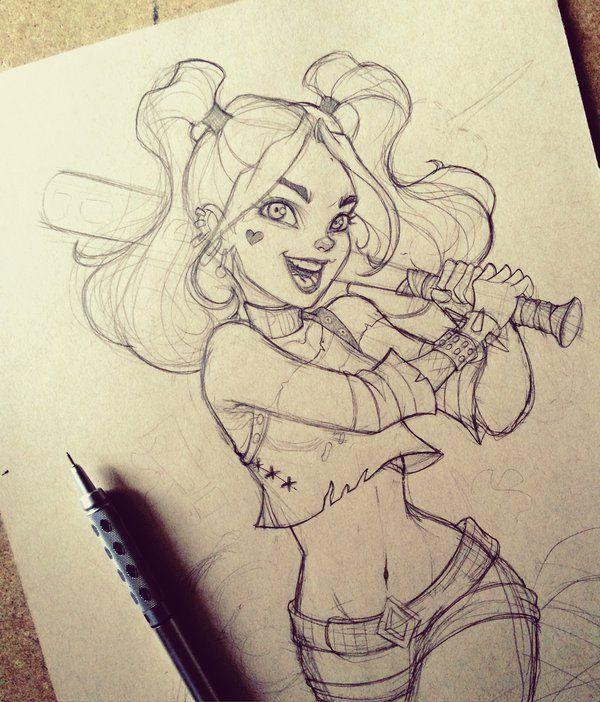 Harley Quinn WIP by chrissie-zullo on DeviantArt