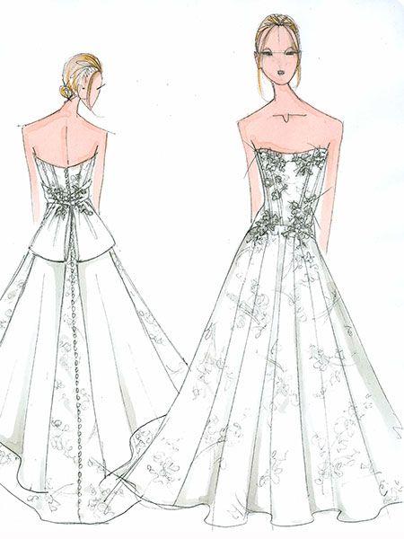 Lauren Conrad Wedding Gown Sketch