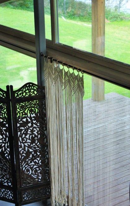 Macrame Boho curtain, room divider