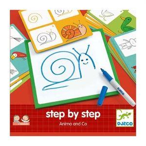 Learning to draw. Con l'ausilio di una lavagnetta, di un pennarello cancellabile e di 24 schede i bambini saranno aiutati a disegnare, passo dopo passo, gli animali più diversi e da loro più amati: il leone, la balena, il ranocchio, la lumaca, ecc. Le 24 schede prevedono la realizzazione del disegno finale procedendo per 3 stadi, in maniera semplice e gratificante per i bambini.  Trovi questi  giochi educativi di #Djeco su http://www.giochiecologici.it/c/78/giochi-educativi #learningtodraw