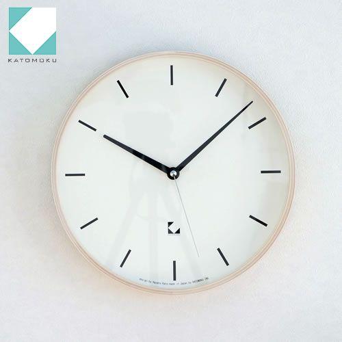 KATOMOKU km-15シリーズ アラーム 電波時計 壁掛け ステップ式掛時計 ホワイト 日本製 / FavoriteStyle