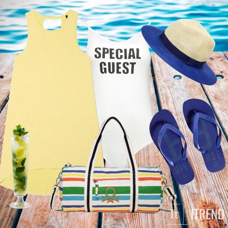 Желтое платье, красивый загар, стильная шляпа, прохладный коктейль, шум морской волны...Что еще надо для счастья?)