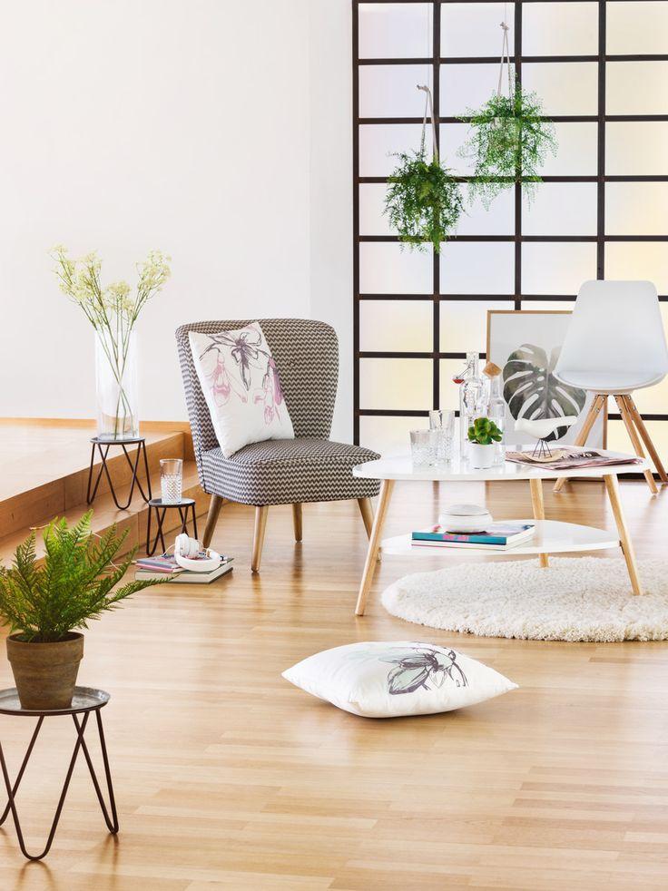 Micasa Wohnzimmer mit Zierkissen JUSTINO und Sessel HENNING