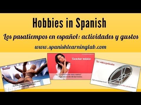 This video shows some common activities in Spanish people like to do in their free time, as well as several important notes to understand how we create sentences about Spanish hobbies. At the end of the video you will listen to a girl saying her personal hobbies in #Spanish so you can create a similar paragraph.                                                                               More