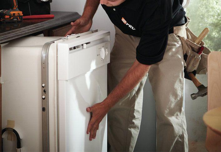 Prep dishwasher installation - Installing Dishwasher