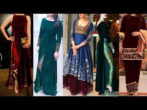 5296bf0080 Velvet suit designs   Velvet dresses   Velvet Salwar kameez   Velvet Kurti    Latest velvet dress - YouTube