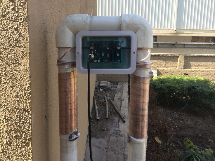 anti-scale system is physical water treatment. It is completely salt and chemical free treatment. Unlike Ion exchange treatment by changing the chemical properties of the water, Anti-scale system changes the physical characteristics of scale crystals so they lose their property to get deposited. Anti-scale system directly fits on the pipe from outside and no need to cut the pipe.