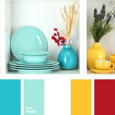 Bright blue and yellow always go well together, creating a very pleasant contrast. These colors can be safely applied in decoration of any room, while red.