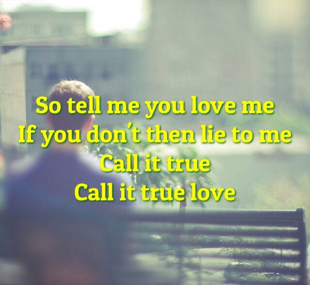 Lyrics from true love by Coldplay