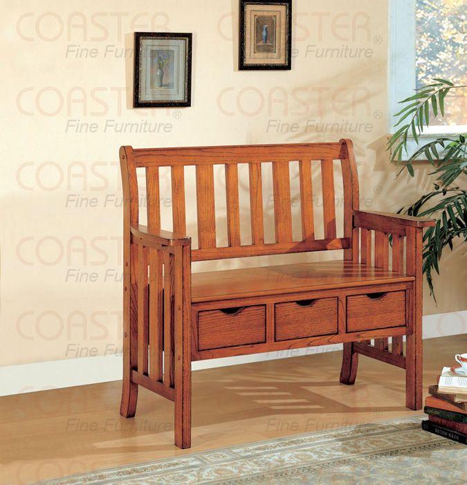 Transitional Brown Cherry Storage Bench Coaster 300075 Wood Storage Bench Bench Furniture Furniture