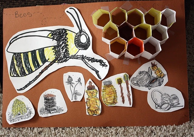 Illustrated life cycle lessons - The Bee Tree #TheBeeTree