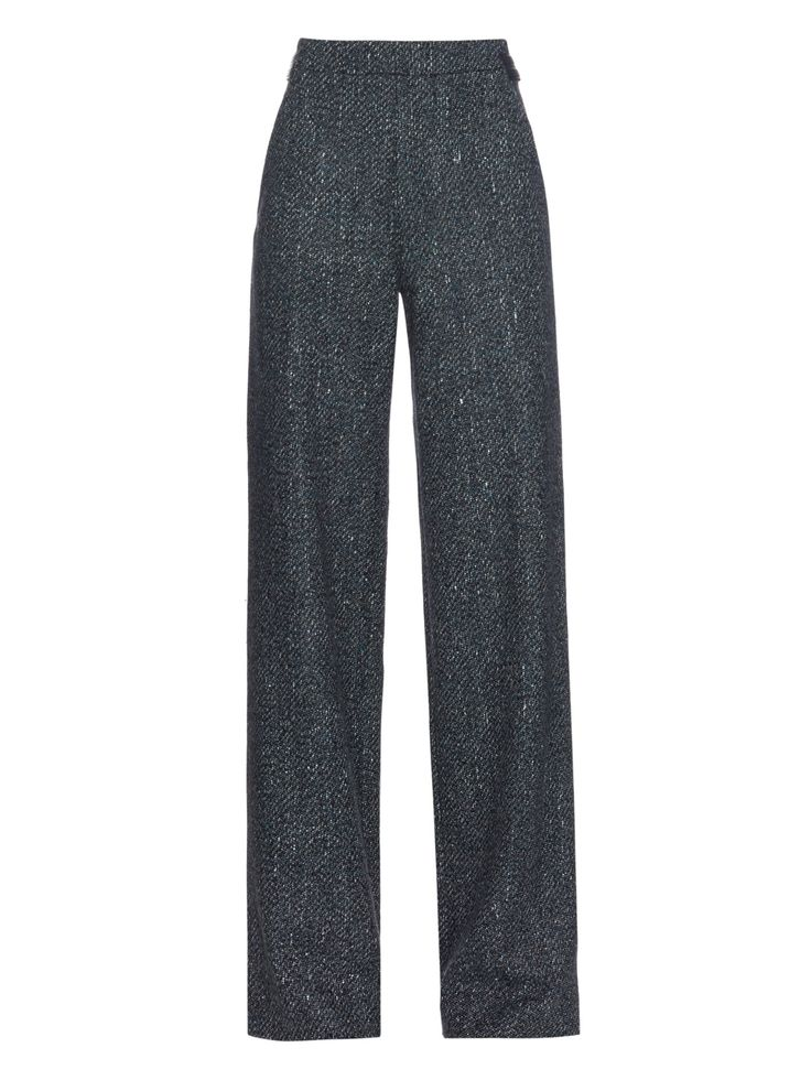 Wide-leg speckled tweed trousers by Proenza Schouler | Shop now at #MATCHESFASHION.COM