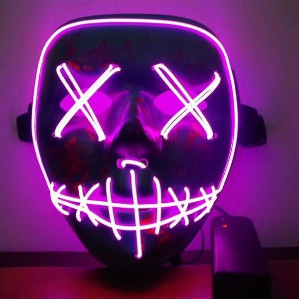 Led Mask Light Up Party Festival Led Light Mask Light Mask Halloween Led Lights